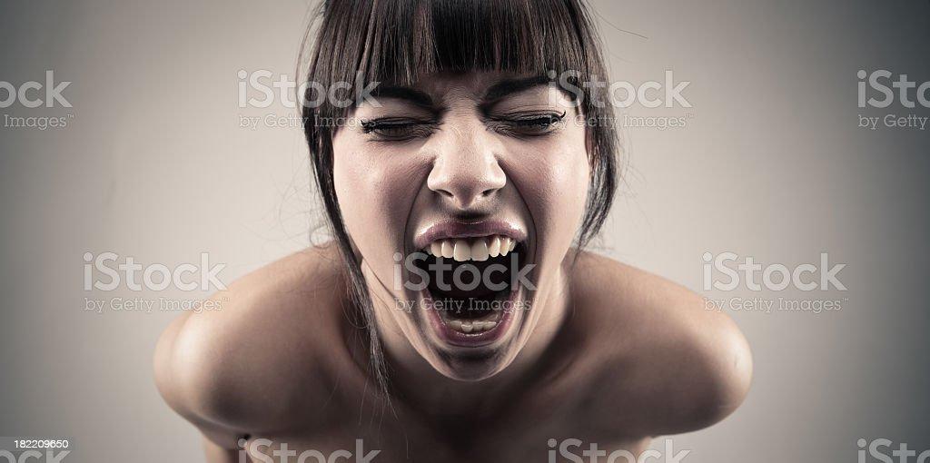 Screaming stock photo