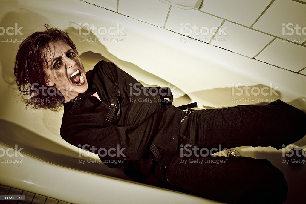 Screaming  Psycho Woman royalty-free stock photo