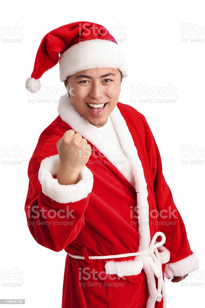 Screaming santa! royalty-free stock photo