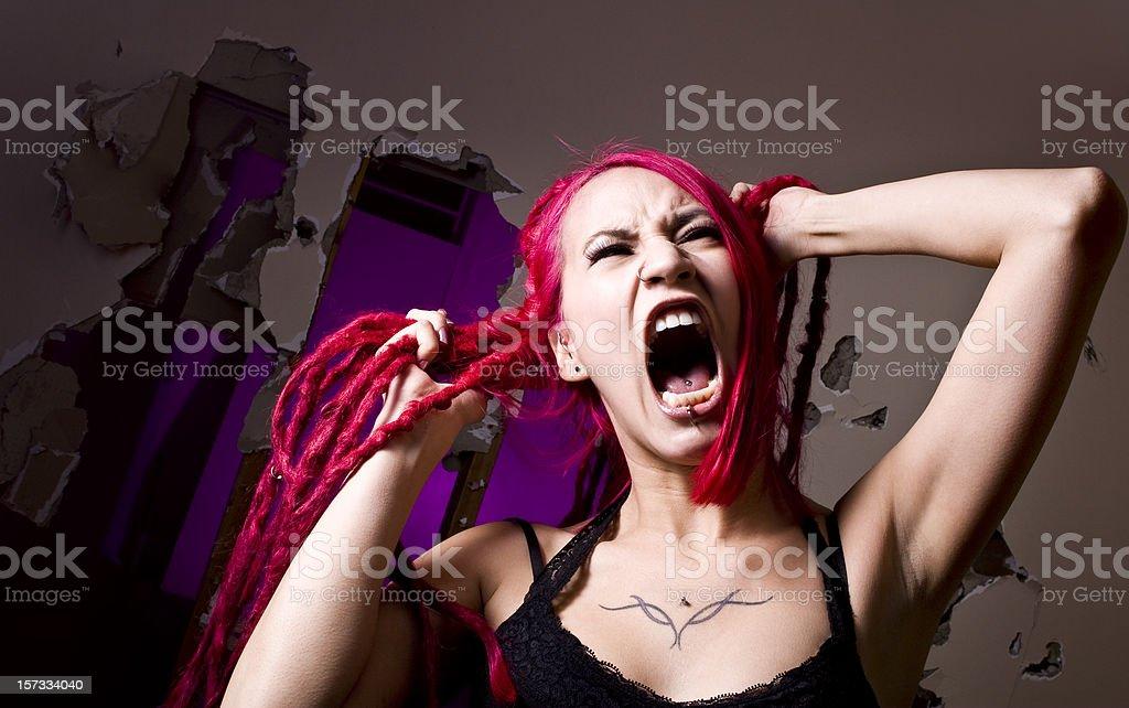 Screaming Woman royalty-free stock photo