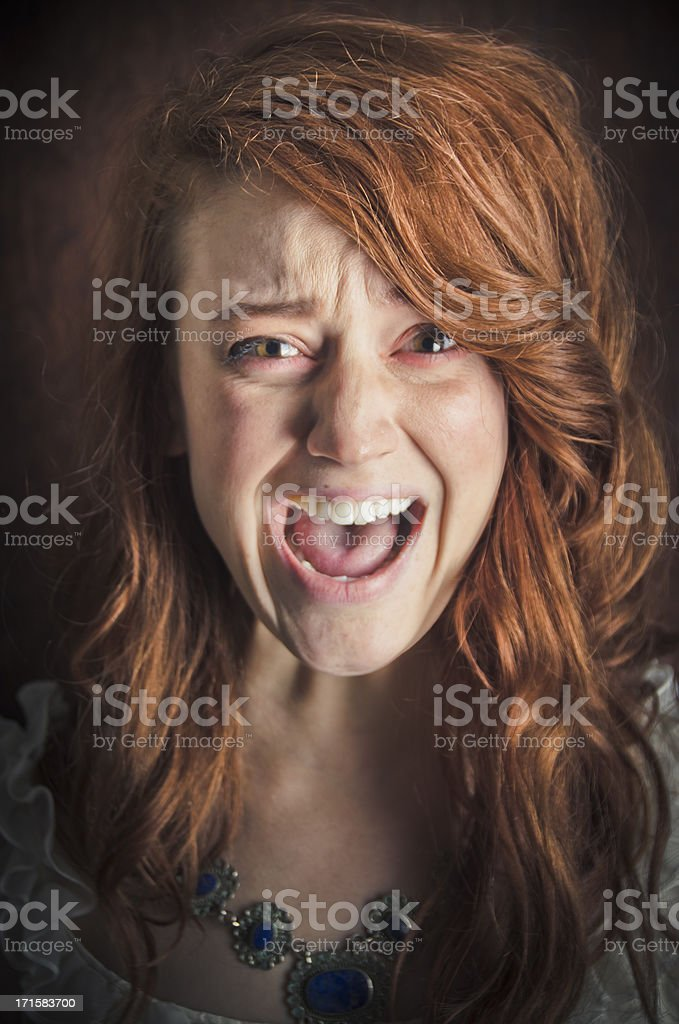 Screaming Woman stock photo