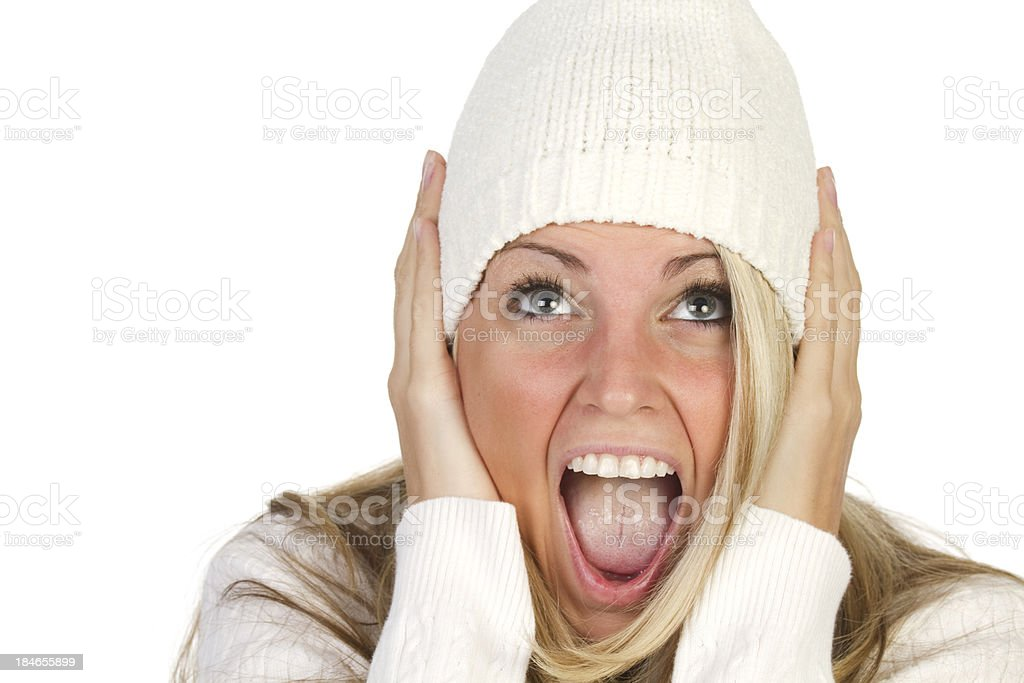 screaming young adult royalty-free stock photo