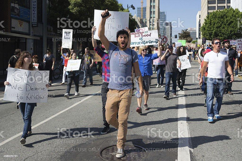 Screams of protest stock photo