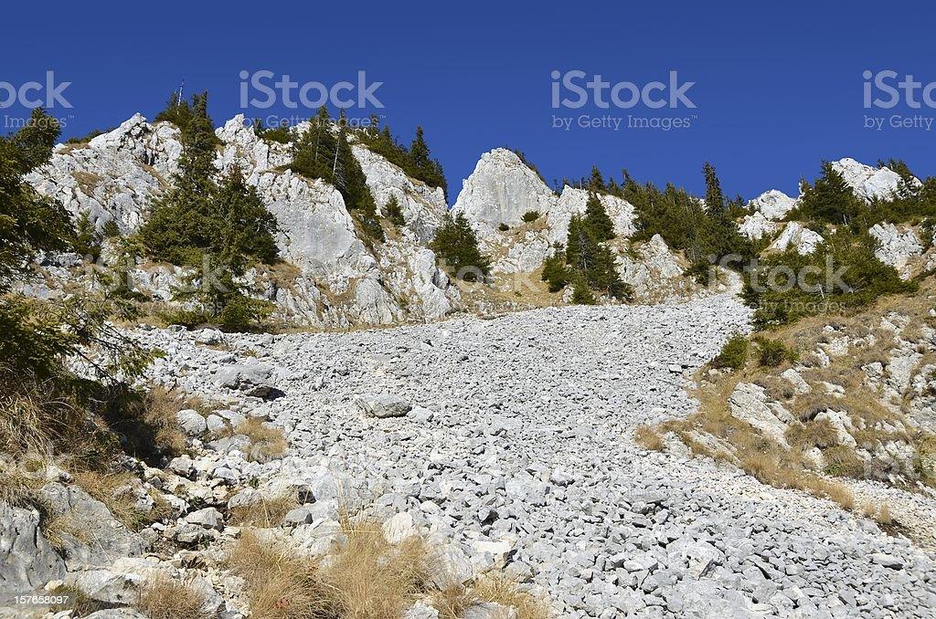 Scree in Piatra Craiului Mountains royalty-free stock photo