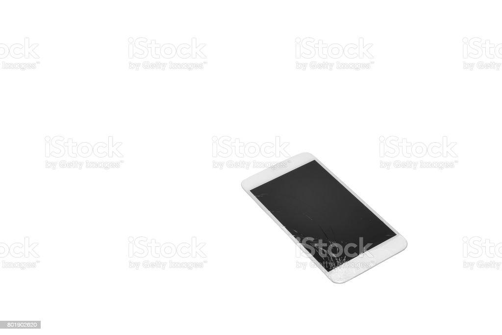 Screen broken phone stock photo