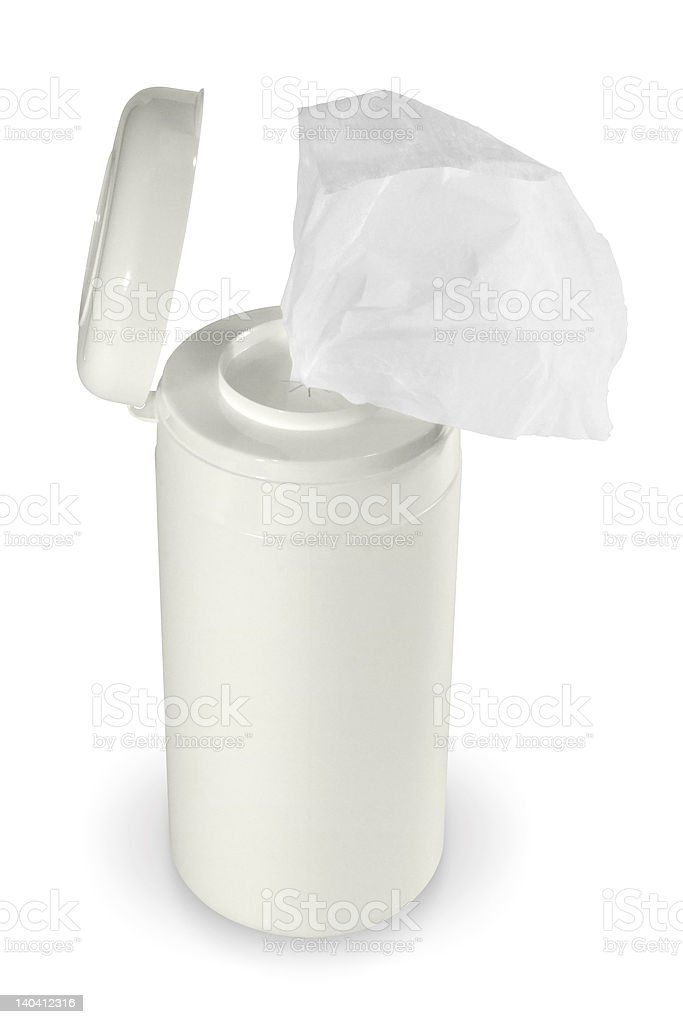 screen cleaning tissue stock photo