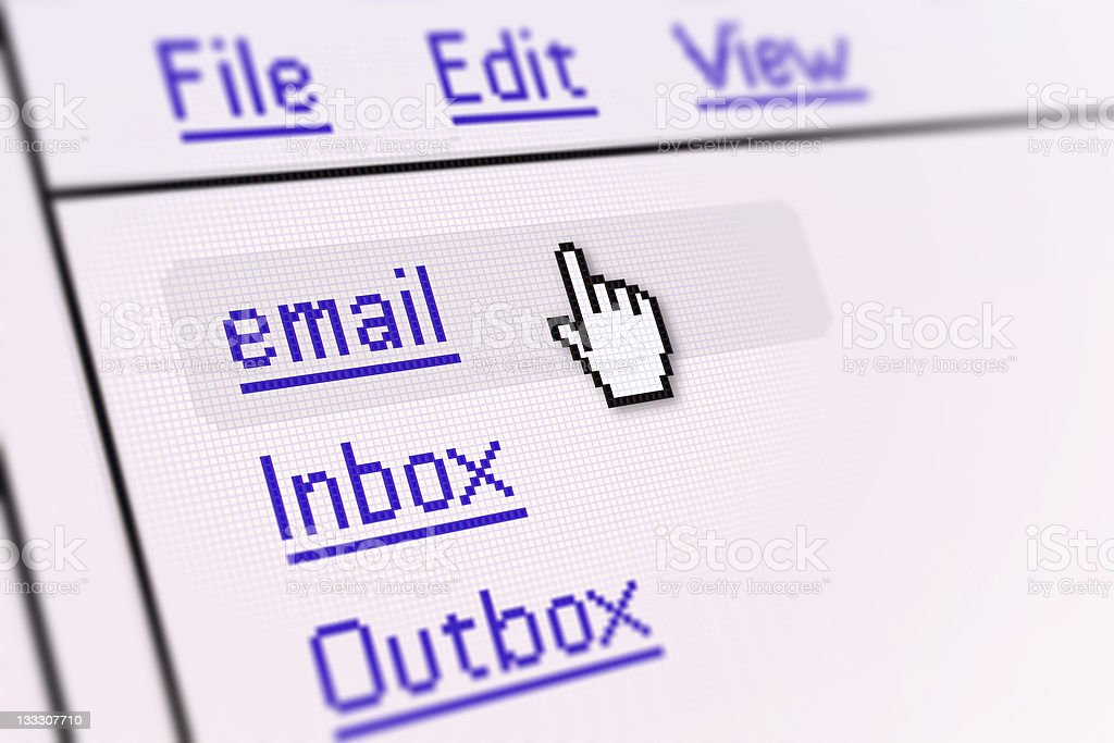 PC Screen | Email royalty-free stock photo