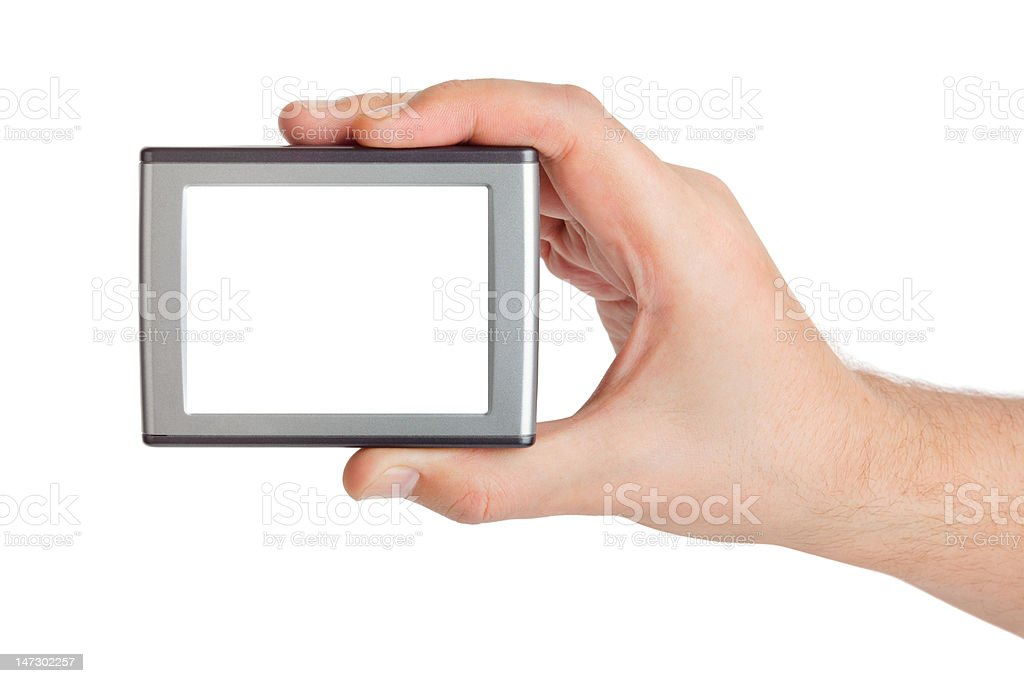 Screen in hand royalty-free stock photo