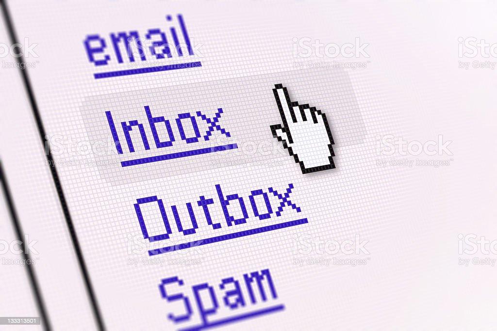 PC Screen | Inbox stock photo