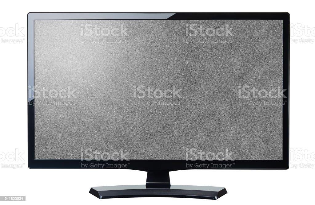 screen monitor tv noisy video grain isolated stock photo