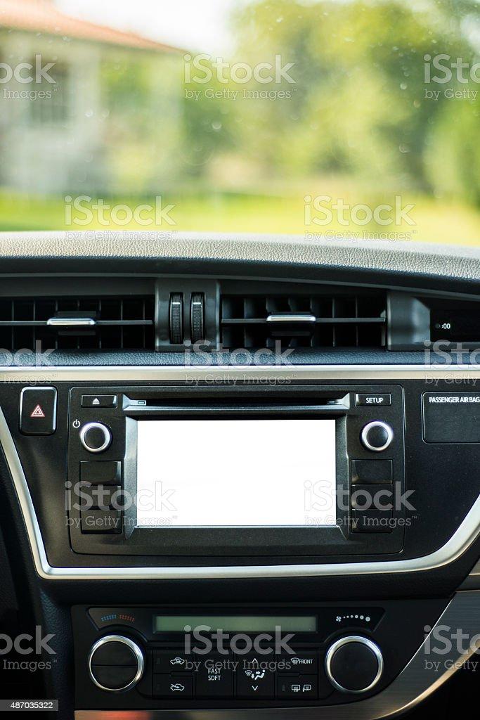 Screen on car stock photo