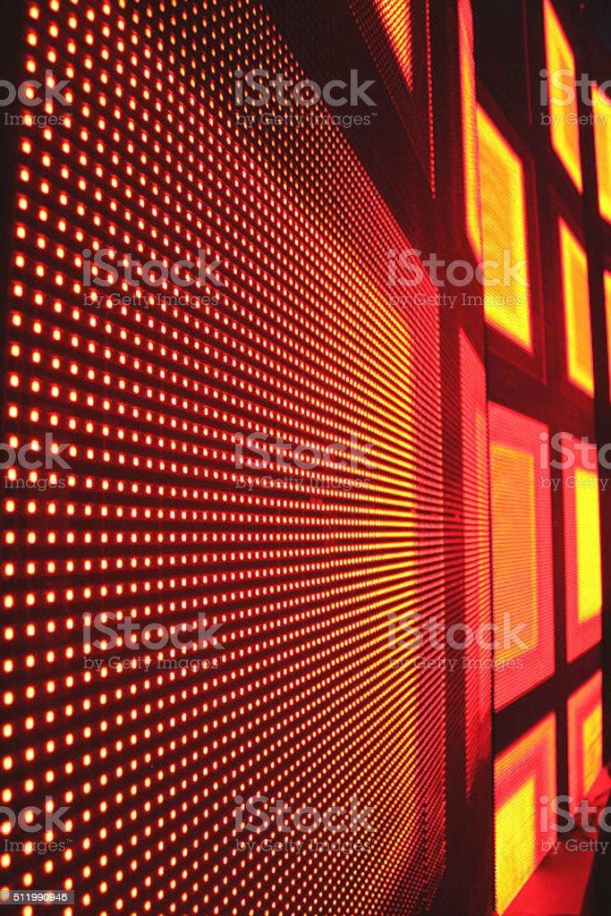 LED Screen, Pixels stock photo