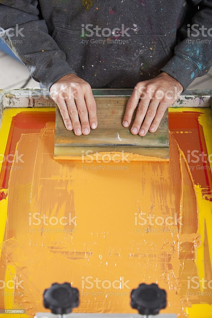 Screen printing stock photo