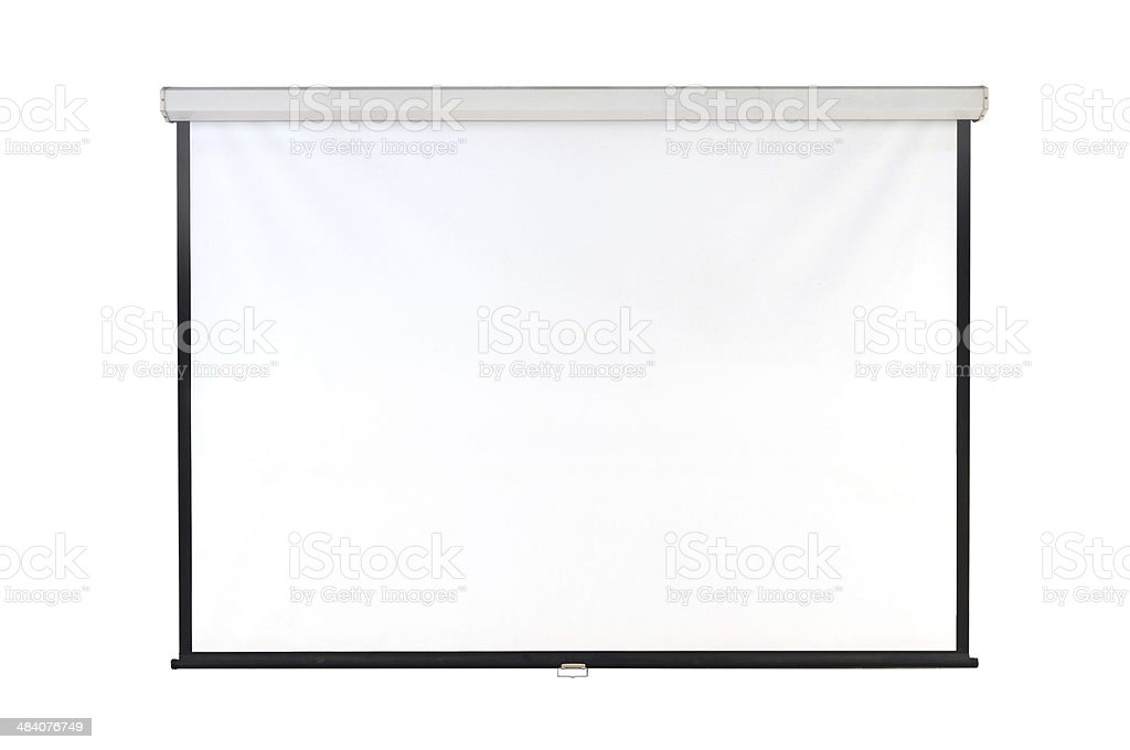 screen projector stock photo