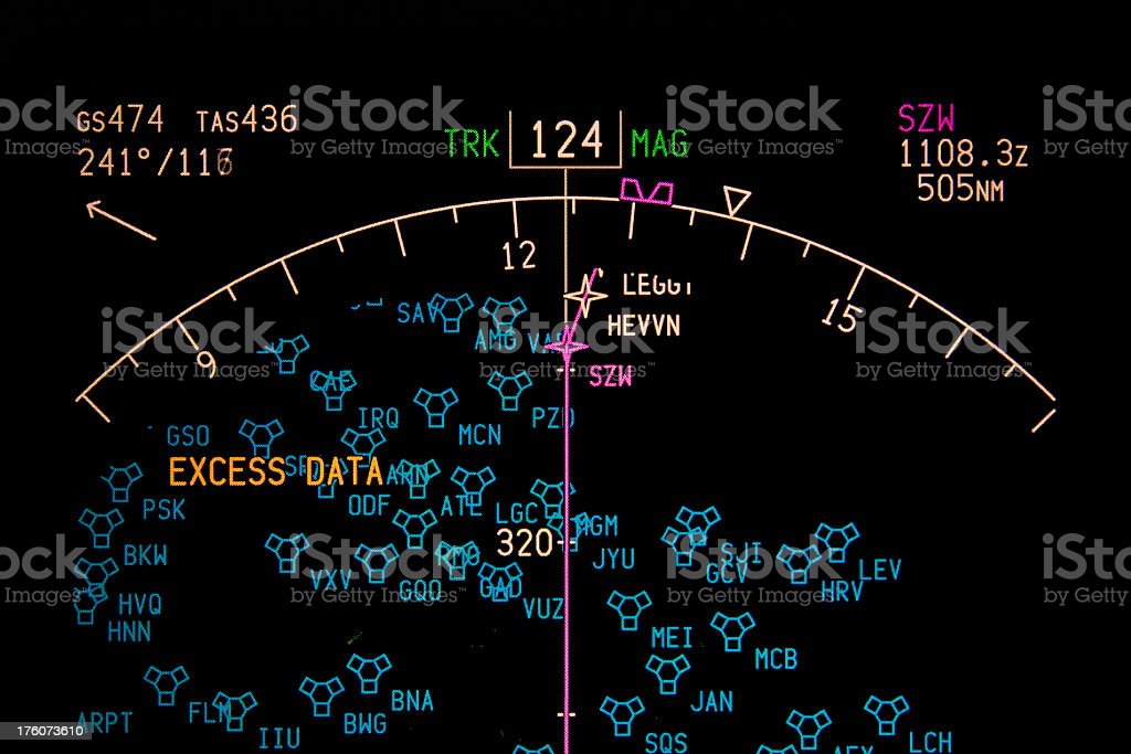 A screen showing excess data over load of information stock photo