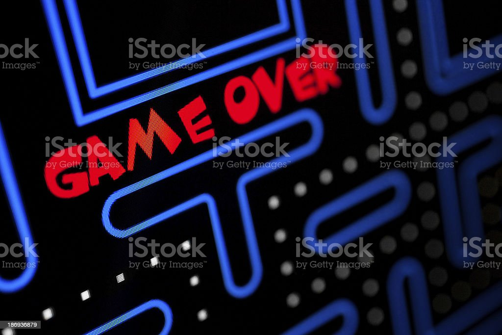 Screen showing that the Game is Over stock photo