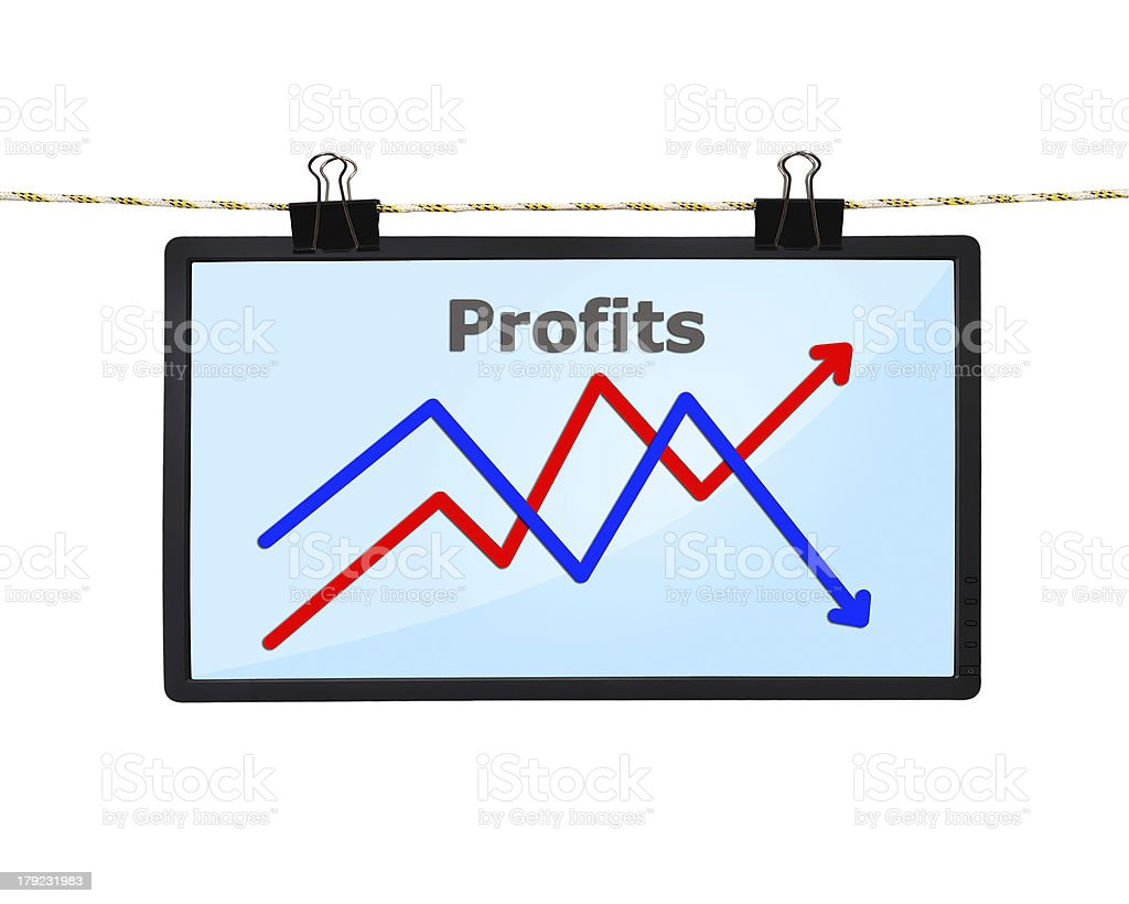 screen with chart stock photo
