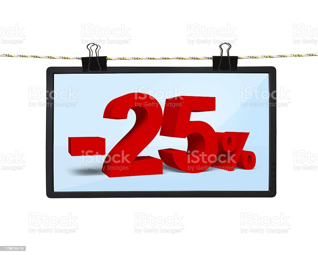 screen with discount stock photo