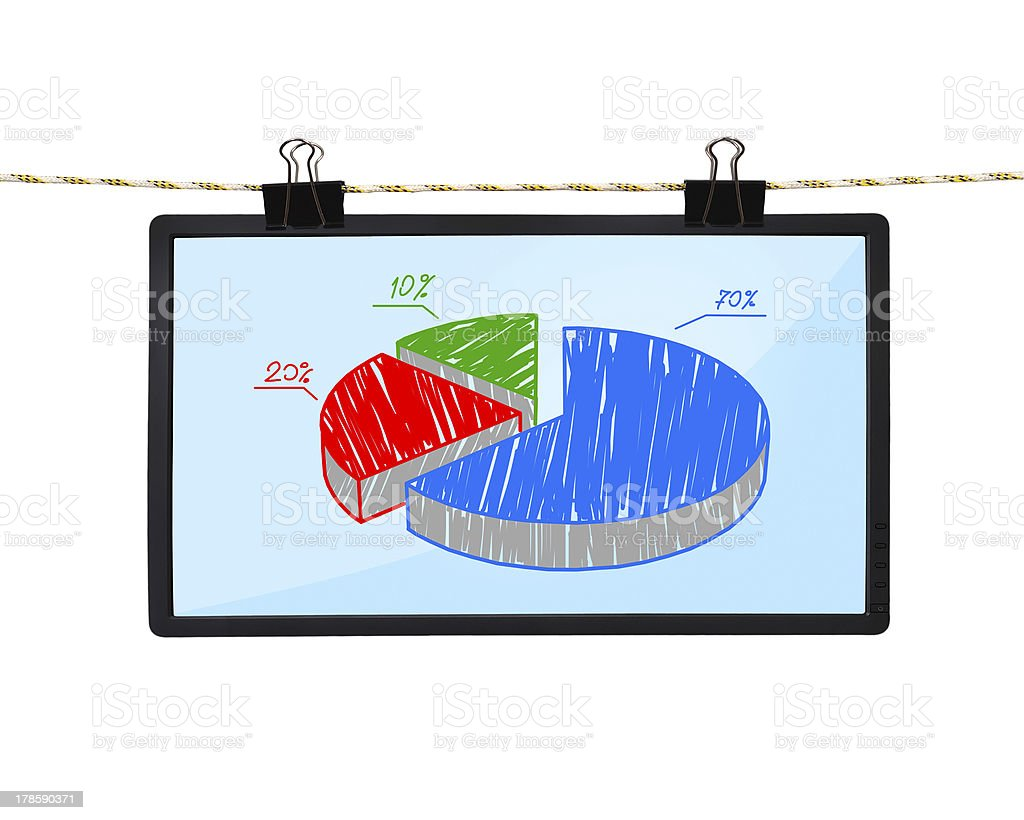 LCD screen with graphic stock photo