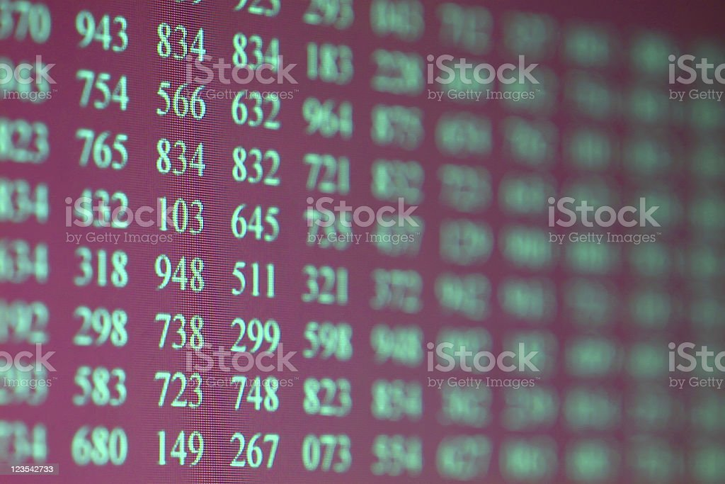 LCD screen with numbers royalty-free stock photo