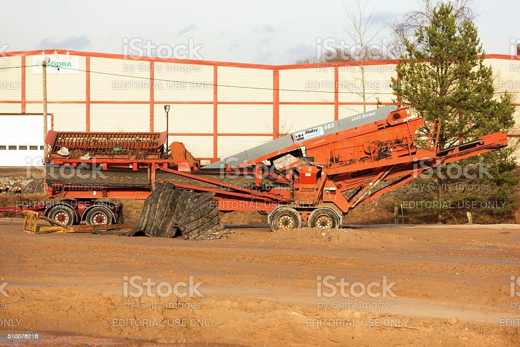 Screening machine stock photo