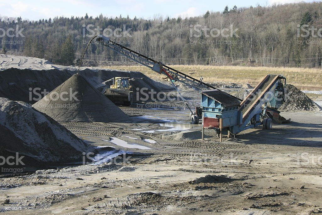 Screening Plant stock photo