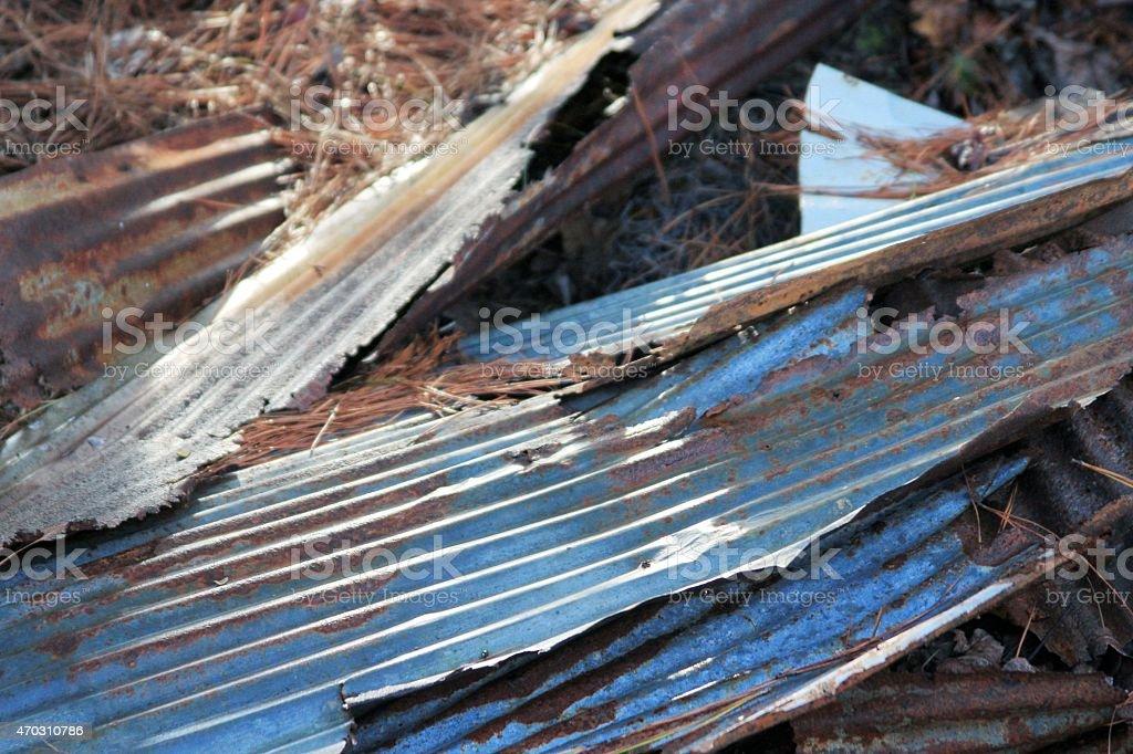 Screp tin stock photo