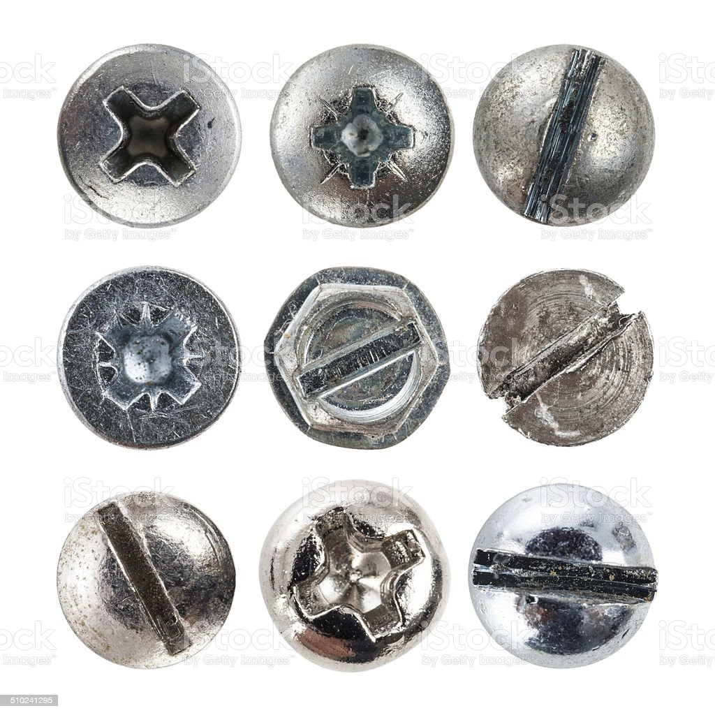 Screw Heads stock photo