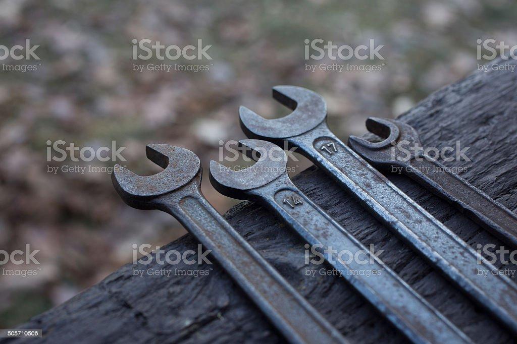 Screw keys stock photo