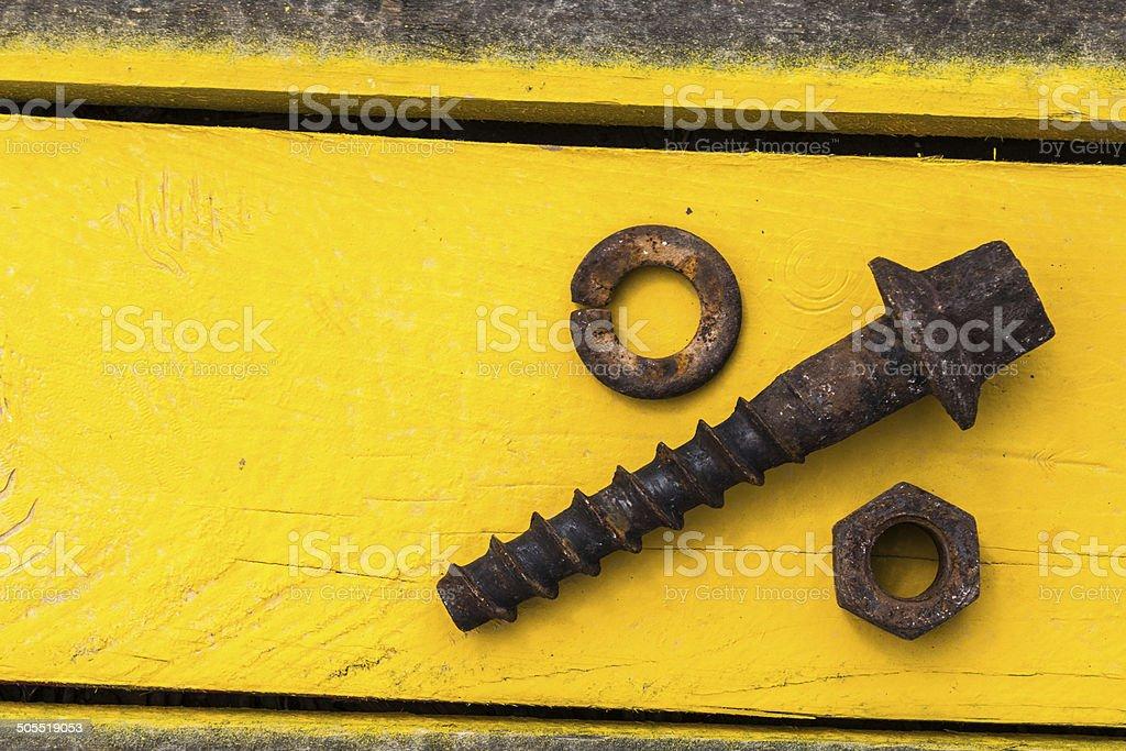 screw spike stock photo