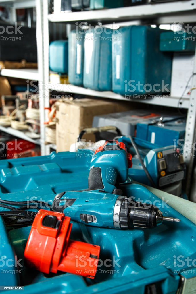Screwdriver in the box stock photo