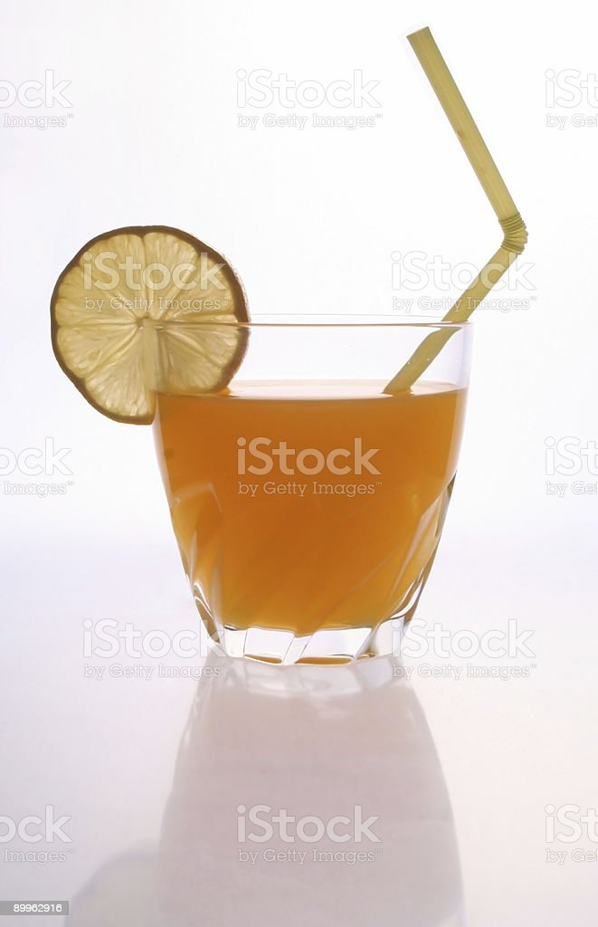 Screwdriver with straw royalty-free stock photo