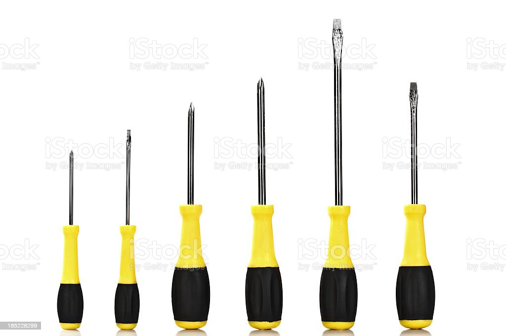 Screwdrivers like a graph royalty-free stock photo