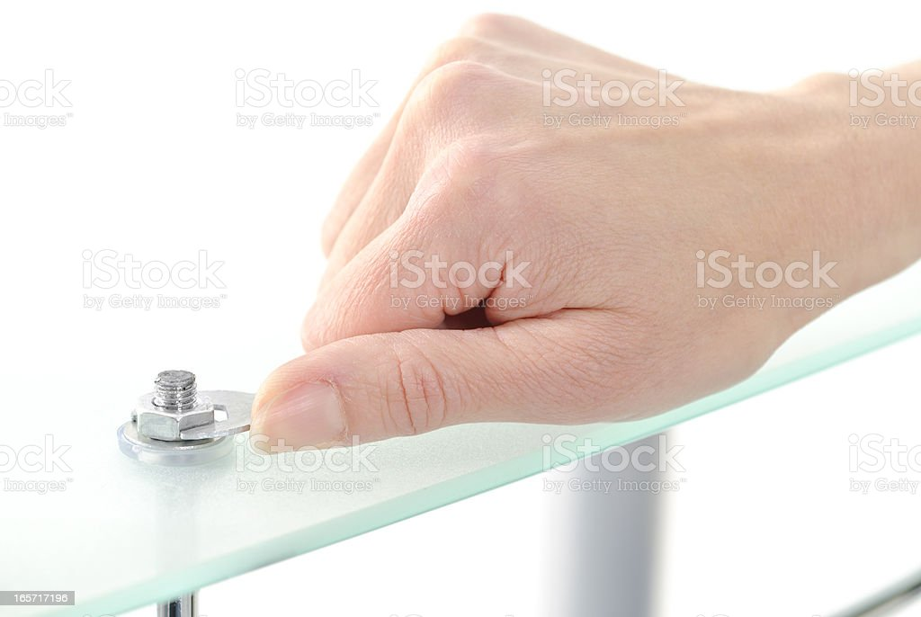 screwed a nut royalty-free stock photo
