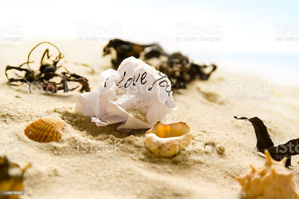 Screwed love letter stock photo