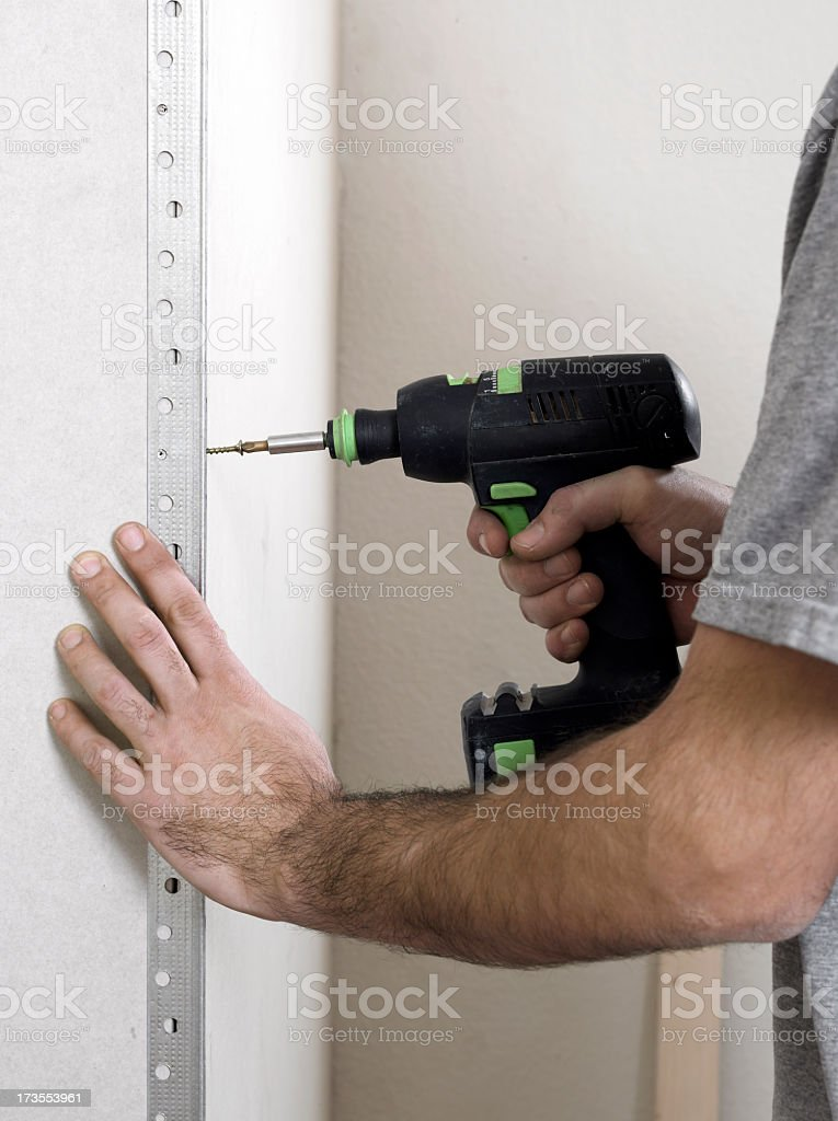Screwing_2 royalty-free stock photo