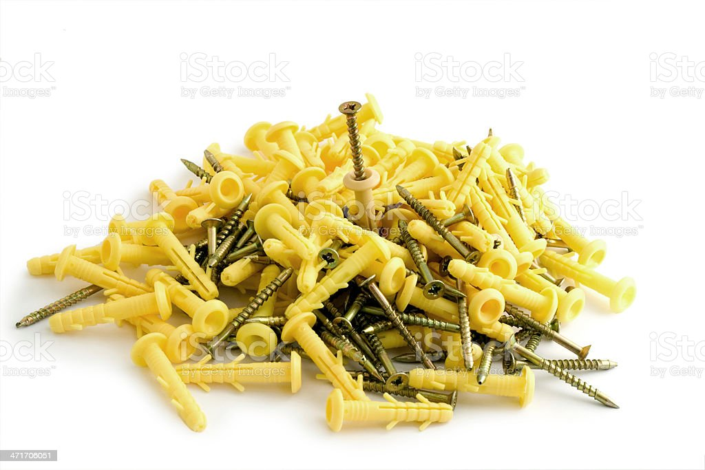 Screws and dowels royalty-free stock photo