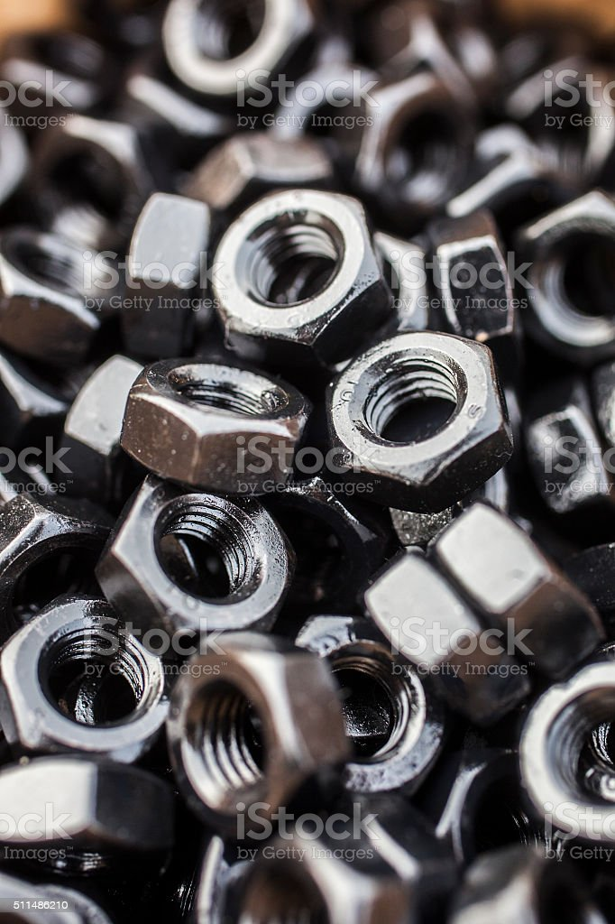 Screws and nuts stock photo