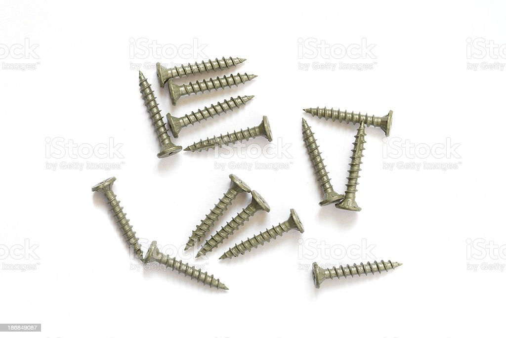 Screws isolated. royalty-free stock photo