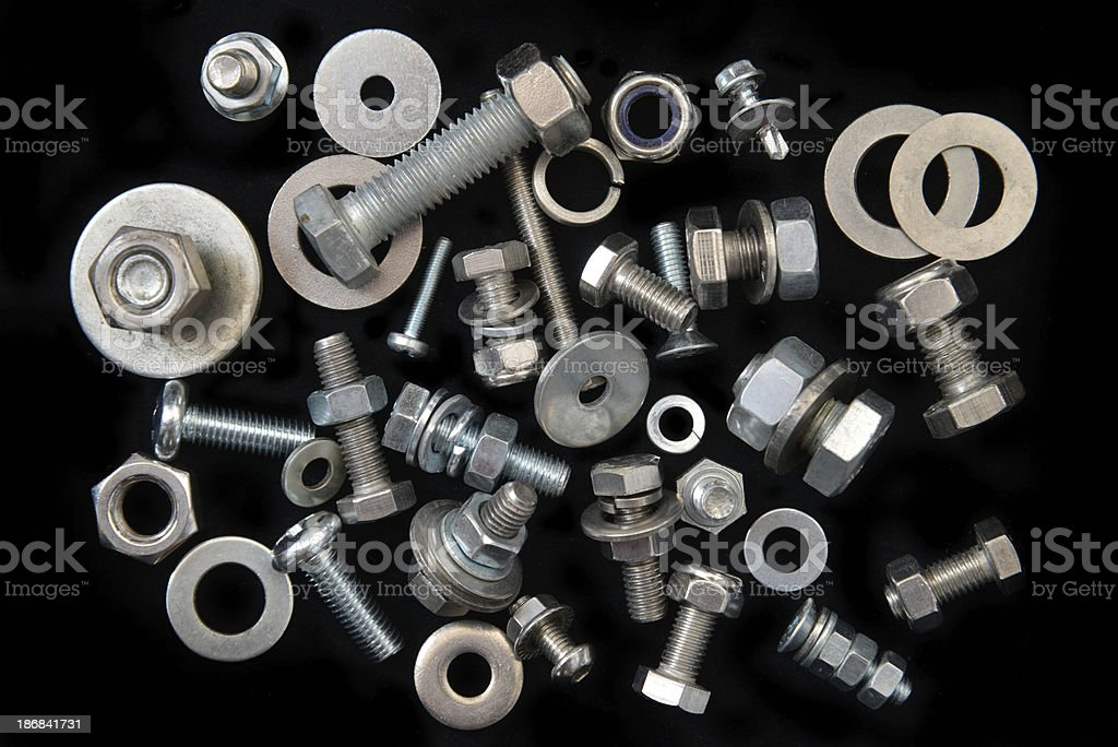 Screws. Nuts. Bolts. And Washers. royalty-free stock photo