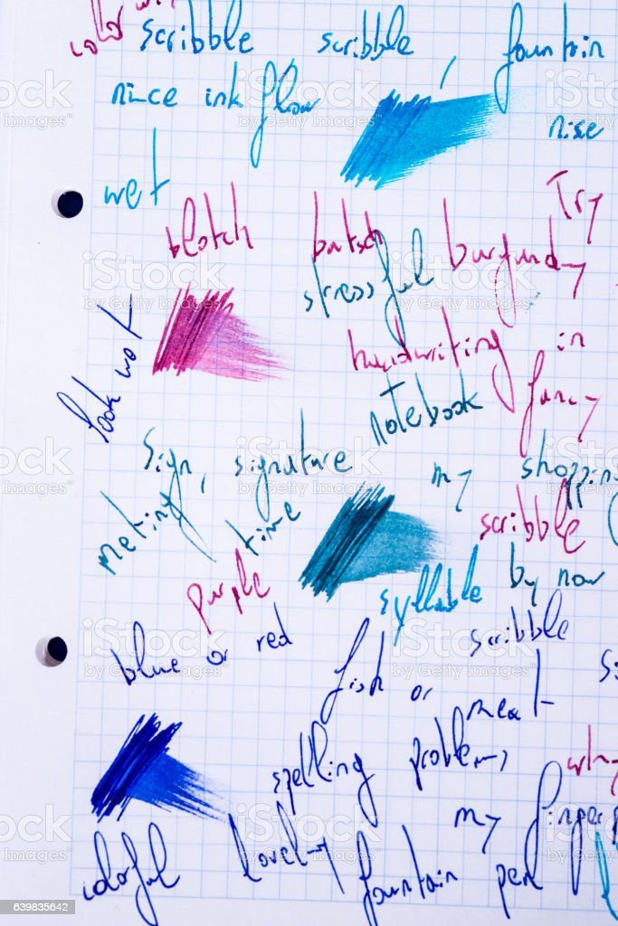 Scribbling stock photo