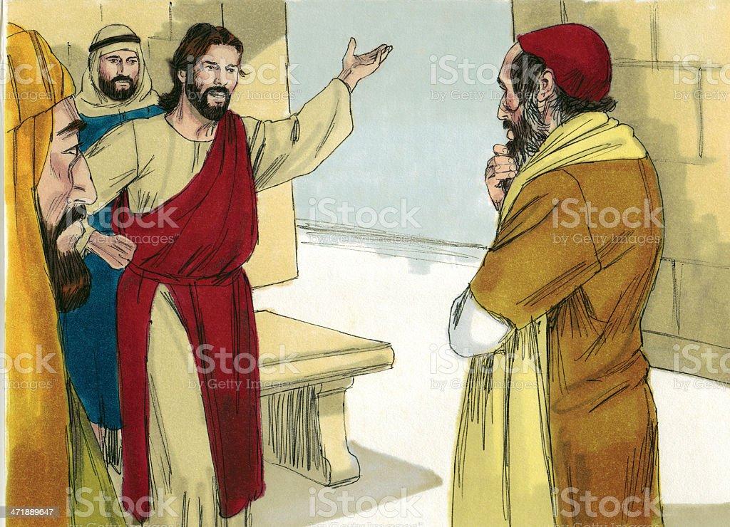 Scribe Listens to Jesus royalty-free stock photo