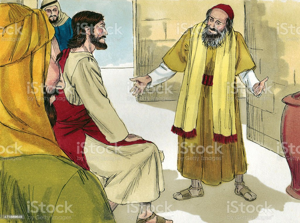 Scribe Questions Jesus royalty-free stock photo