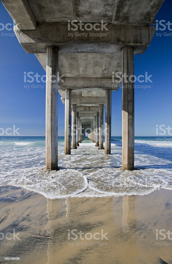 Scripps Pier, La Jolla California stock photo