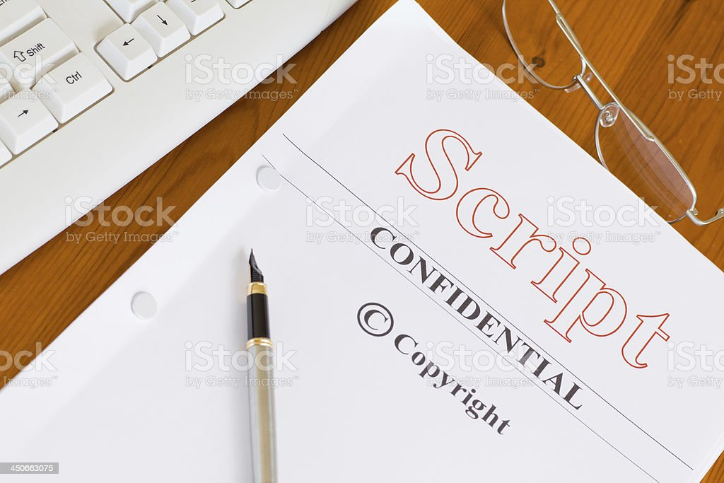 Script Manuscript ready to be Published stock photo
