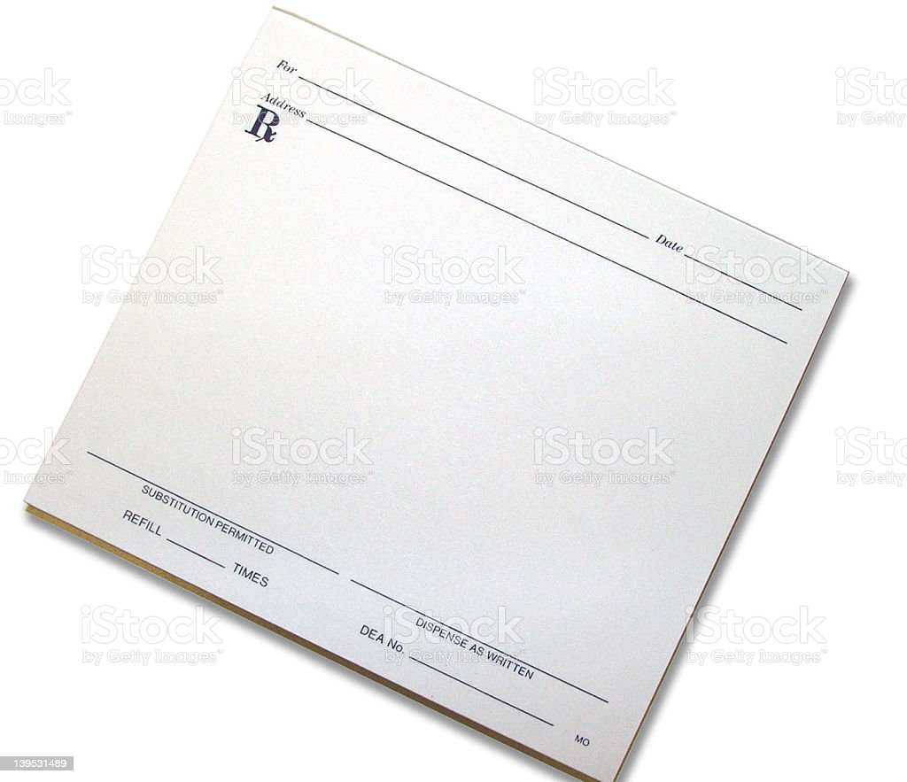Script Pad stock photo