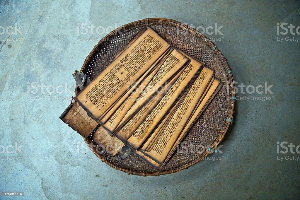 Scriptures of Vaishavite Culture in Majuli stock photo