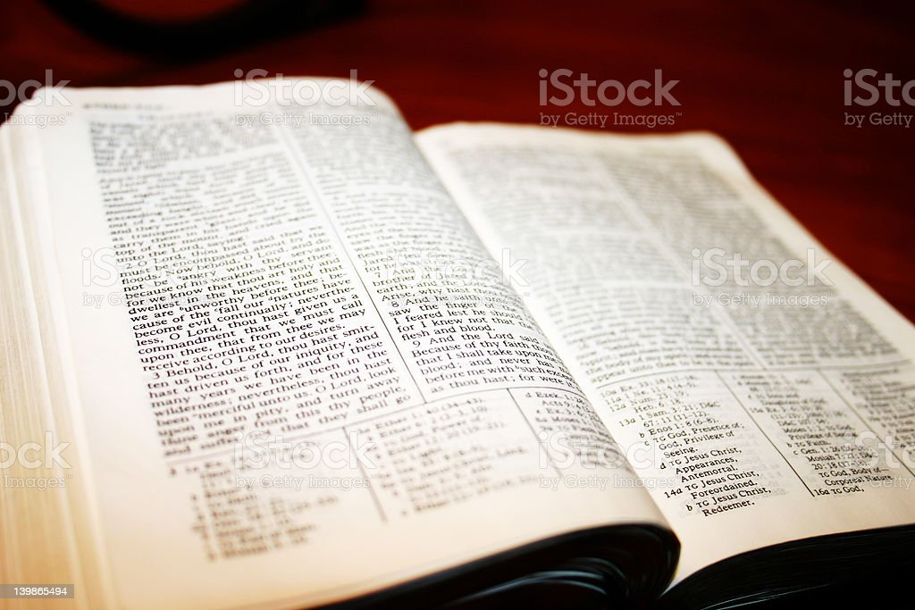 Scriptures stock photo
