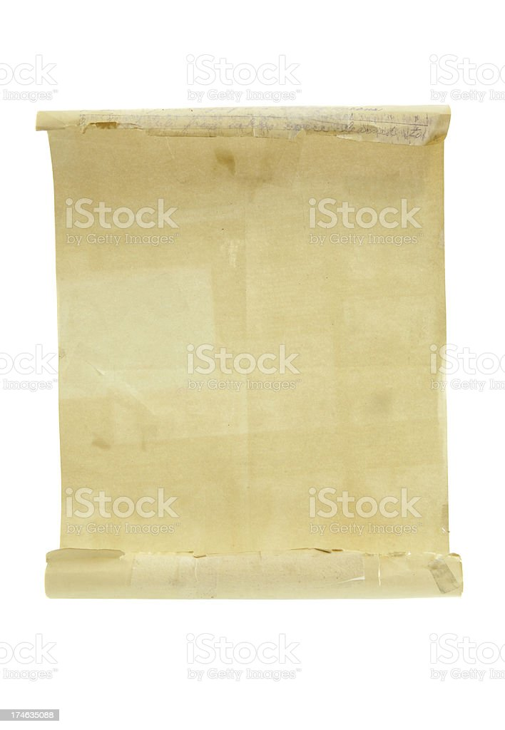 Scroll - Blank Open Letter royalty-free stock photo
