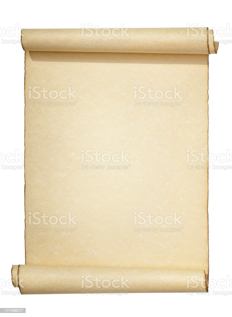 Scroll Isolated on White stock photo